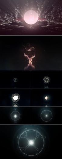 霓虹灯光粒子光效火焰燃烧视频素材