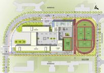 小学方案设计彩色总平面图