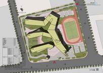 小学建筑方案设计总平面图