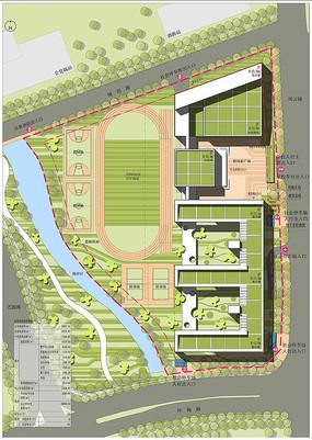 小学建筑设计总平面图