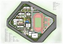 小学景观规划方案彩色平面