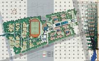 校园方案设计总平面图