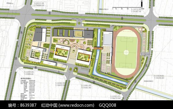 校园景观方案设计彩色平面图图片