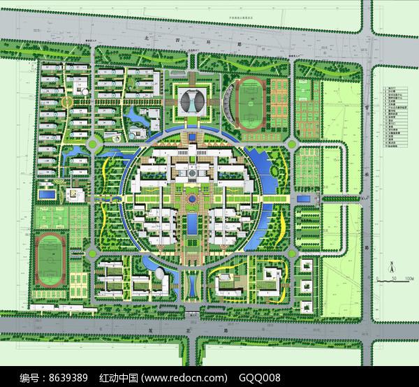 校园景观规划设计总平面图图片