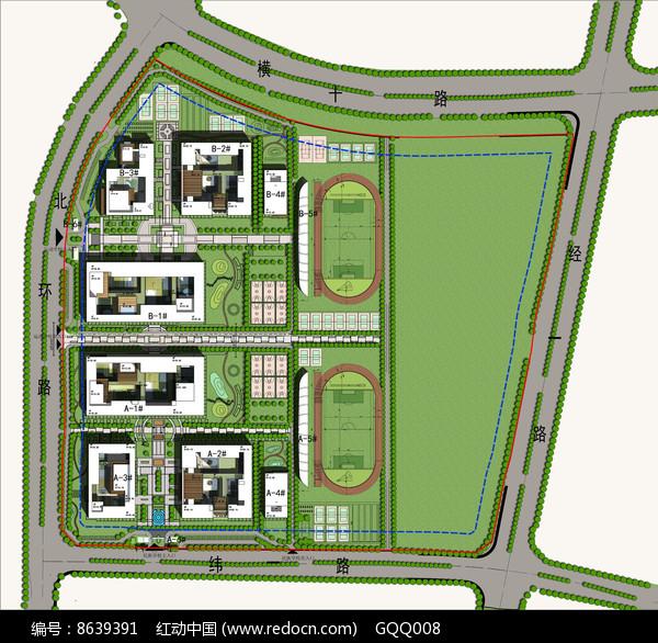 学校规划及建筑设计方案总平图片
