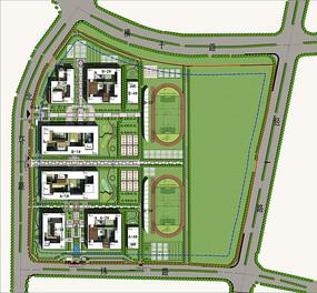 学校规划及建筑设计方案总平