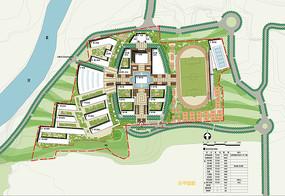 学校景观概念设计平面图