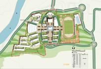 学校景观概念设计平面图 JPG