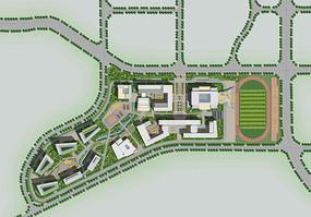 中学建筑设计总平面图