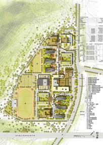 中学校园设计方案总平面图 JPG