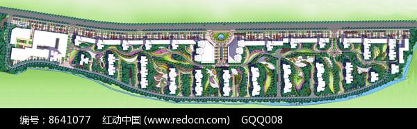 住宅区景观规划设计分层彩平图片