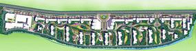住宅区景观规划设计分层彩平