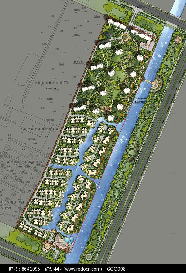 住宅区景观设计彩平 图片