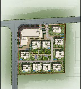 住宅小区景观设计彩平