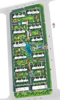 住宅小区景观设计分层彩平