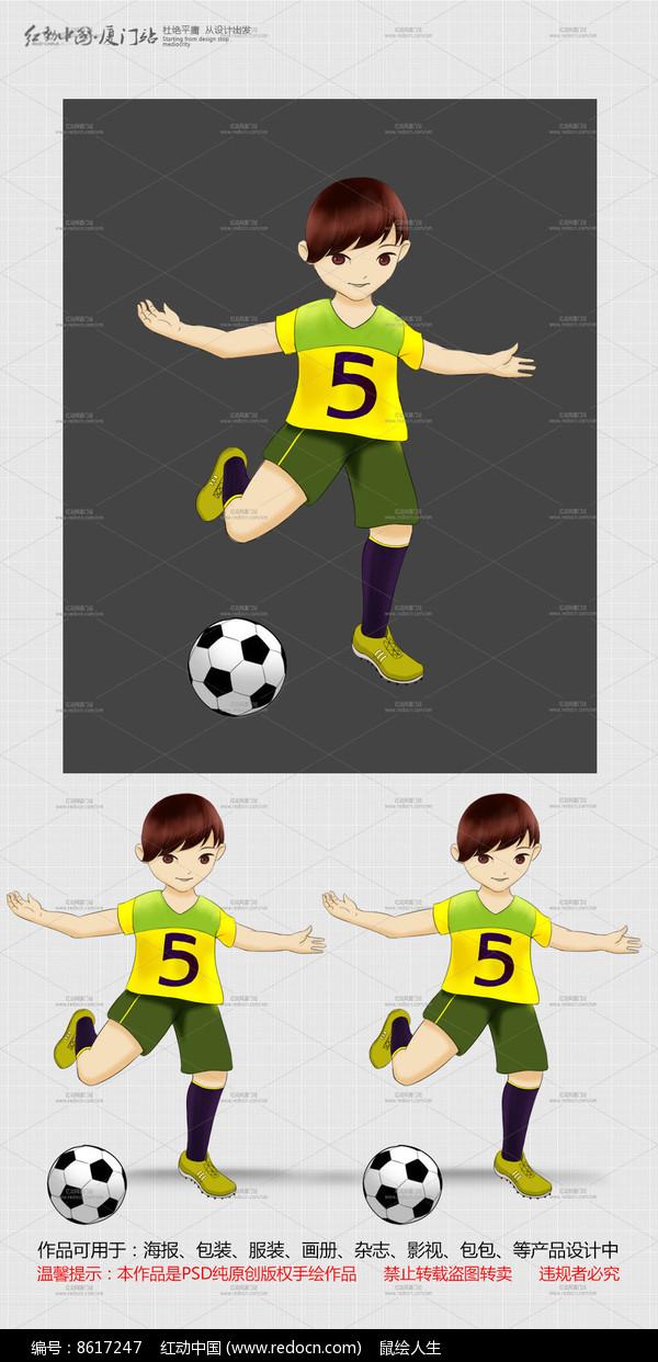 足球人物卡通素材图片