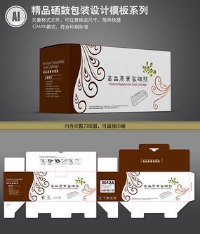 古典花纹硒鼓盒包装设计