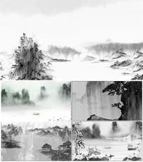 5组镜头水墨背景合集视频素材