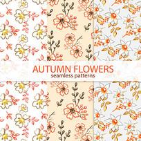 抱枕水彩花卉印花图案