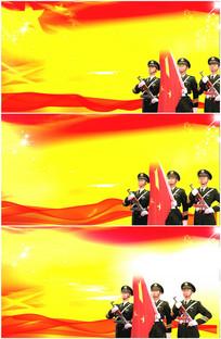 国旗护卫队仪仗队红旗党建视频