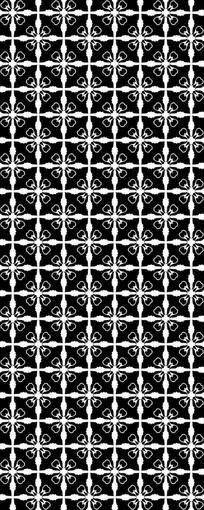豪华黑白花纹图案cdr