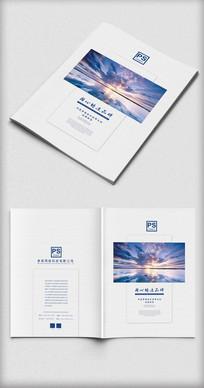 极简创意企业商务画册封面