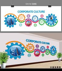 企业文化标语背景墙设计