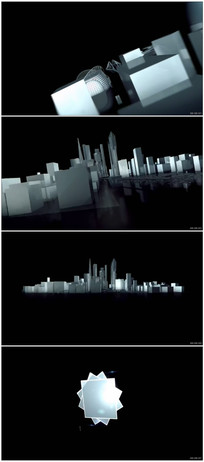 三维城市Logo动画 AE模板