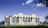 图书馆建筑设计效果图