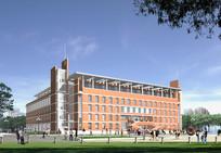 学校图书馆建筑方案效果图
