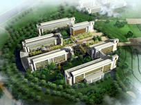 学院建筑群鸟瞰图