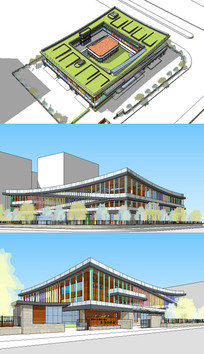 幼儿园建筑su模型 skp