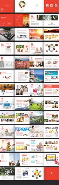 整套红色企业文化画册宣传册