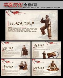 中医文化七大门派展板挂图