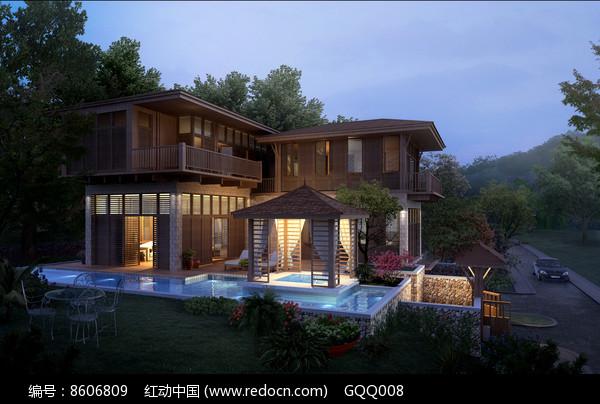 别墅建筑设计效果图图片