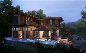 别墅建筑设计效果图