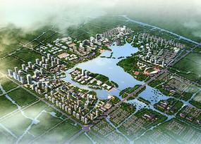 滨水公园设计鸟瞰图