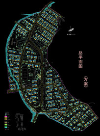 村庄建设规划总平面图 dwg