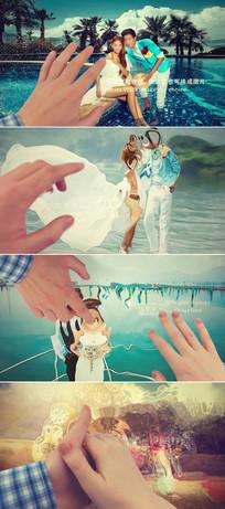 点击照片产生水波纹婚礼模板