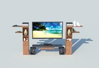 电视柜木质模型