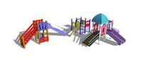 多款儿童滑梯模型 skp