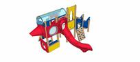 儿童木制组合滑梯模型 skp