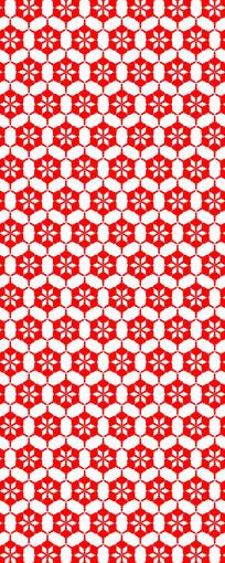 蜂巢式花纹图案