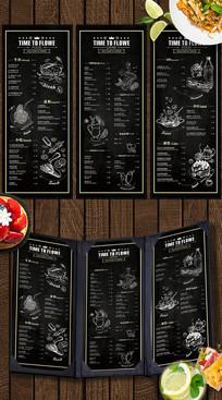 黑板风格西餐厅菜单 CDR