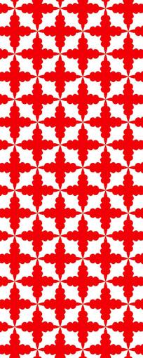 红花矢量图案