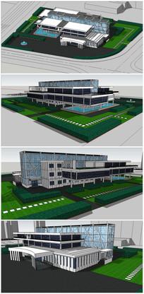 某大学图书馆建筑SU模型