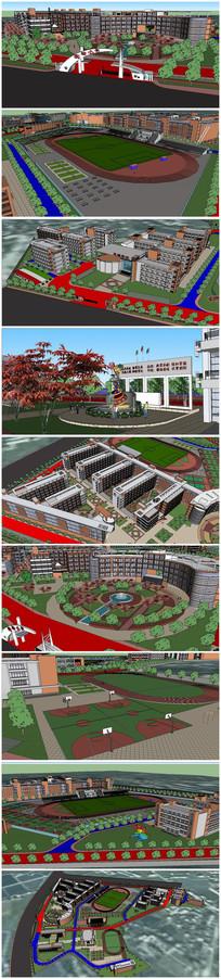 某实验小学建筑SU模型