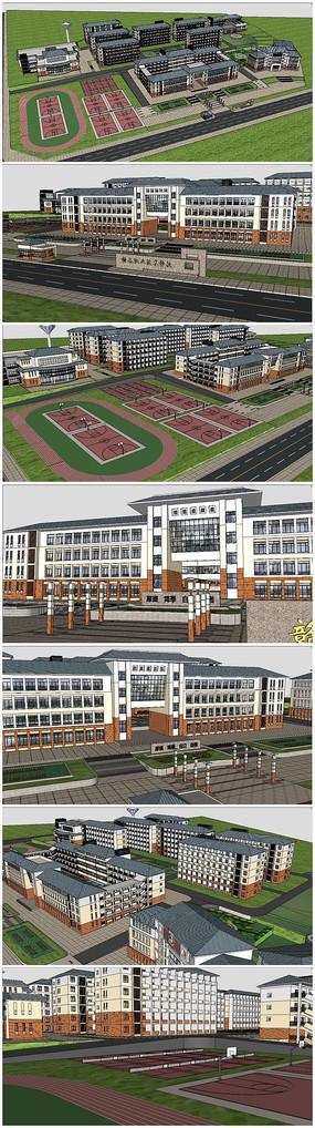 某学校规划整体SU模型 skp