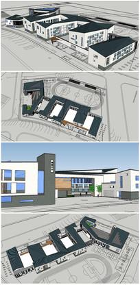 某学校建筑SU模型 skp