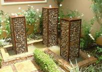 庭院石笼景观